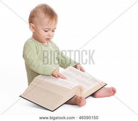 Infant With A Book