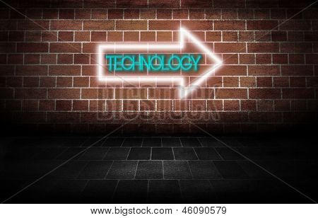 Technology Neon Sign direction