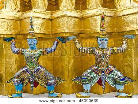 Giant, Wat Phra Kaew, Bangkok, Thailand