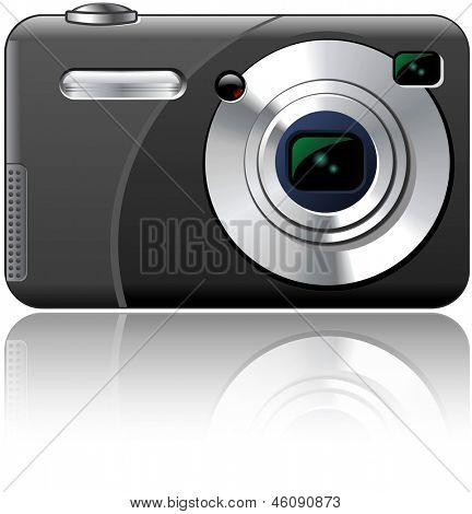 Point And Shoot Amateur Photo Camera Isolated Illustration