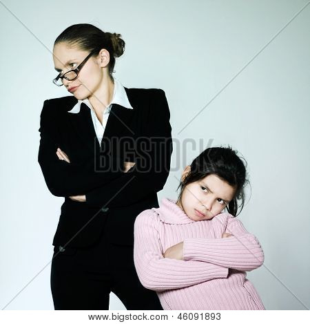 nanny teacher mother woman child conflict dipute problems education