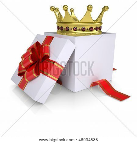Crown of a gift box