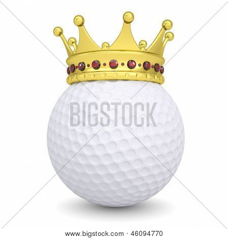 Crown on a golf ball
