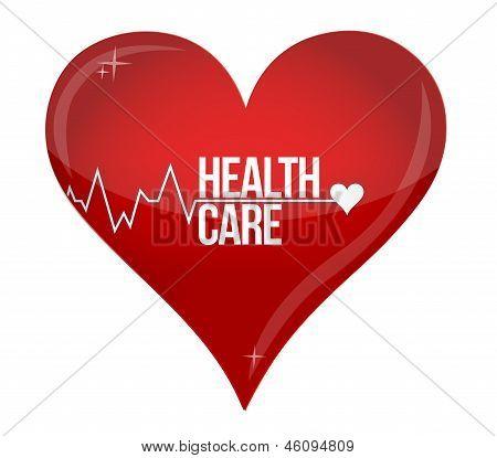Health Care Heart Concept Illustration Design