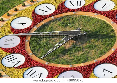 Flowerbed Clock