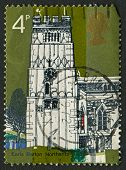 UK - CIRCA 1972: A stamp printed in UK shows image of the Village Chruches, All Saints, Earls Barton