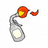stock photo of blow torch  - cartoon blow torch - JPG