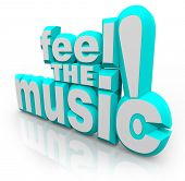 picture of rap  - The words Feel the Music - JPG