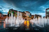 stock photo of fountains  - Fountain in the piccadilly garden in the Manchester city centre - JPG