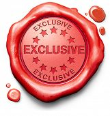 image of exclusive  - exclusive offer or VIP treatment rare high quality product with limited production icon seal or stamp - JPG