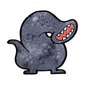 foto of leech  - cartoon giant leech monster - JPG