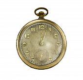 Постер, плакат: Старые золотые карманные часы