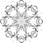 image of scrollwork  - Beautiful lace pattern - JPG