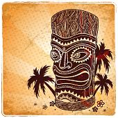 picture of tiki  - Vintage Aloha Tiki illustration  - JPG