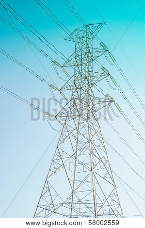 Hight Voltage Electricity Pole