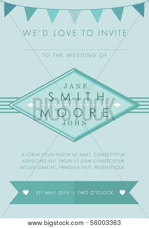 Wedding invitation turquoise theme