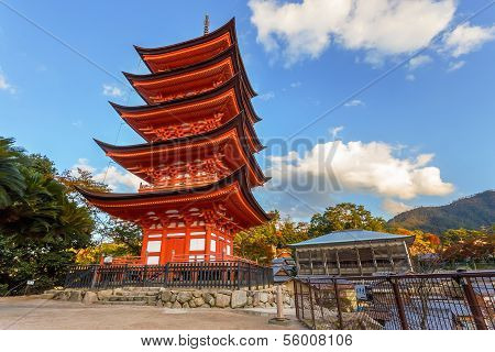 Five Storied Pagoda at Toyokuni Shrine in Miyajima