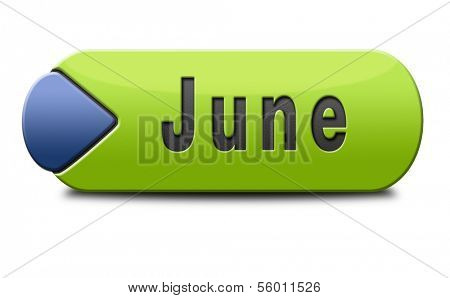 june late spring early summer month button or icon