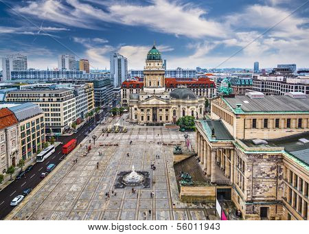 Berlin, Germany skyline over Gendarmenmarkt.