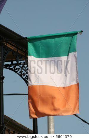 irish flag on the pub