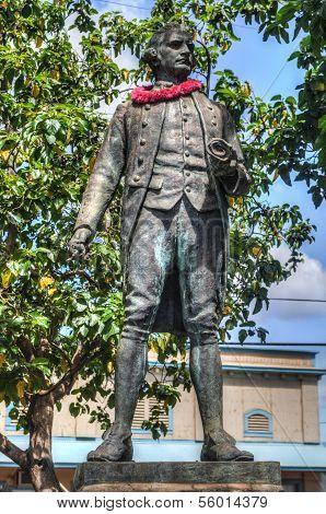 Captain James Cook Statue Kauai Hawaii