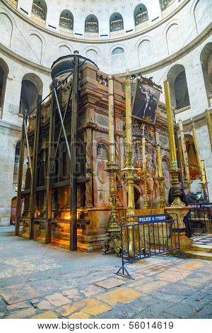 Interior Of The Church Of Holy Sepulcher