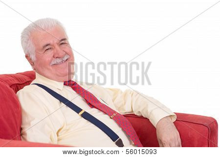 Jovial Senior Man With A Lovely Beaming Smile