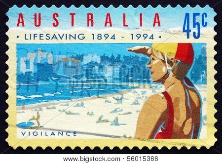 Postage Stamp Australia 1994 Vigilance