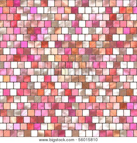 Pink Mosaic Tiling