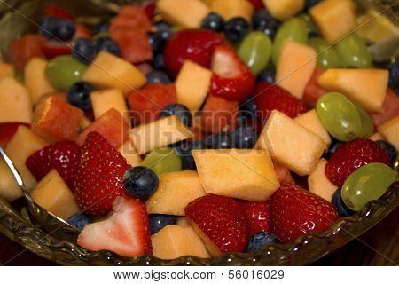 Fülle-Obstsalat mit Heidelbeeren