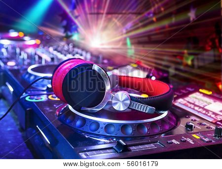 Dj Mixer With Headphones