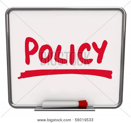 Policy Word Notice Board Rules Guidelines Compliance