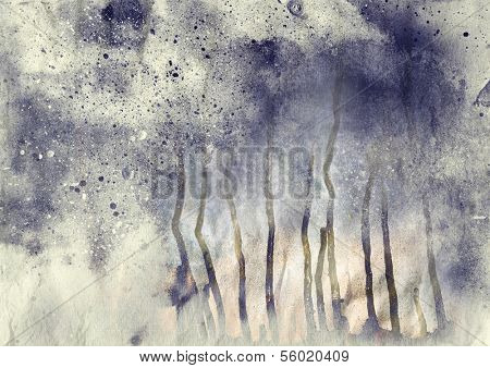 Abstract splatter painting background