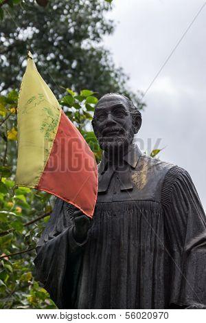 Statue Of Reverend Dr. Ferdinand Kittel In Bangalore.