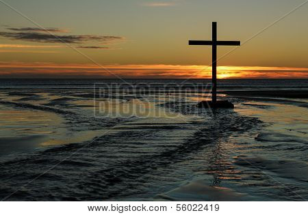 Sunset Beach Waters Cross