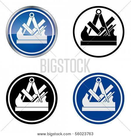 Joiner - Traditional Craftsmen's Guild Vector Symbol, four variations,