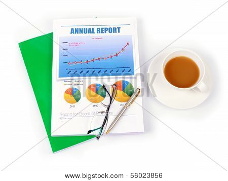 Report With A Cup Of Coffee.