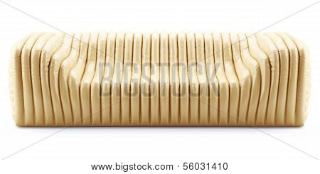 Wave Yellow Sofa Leather Glossy