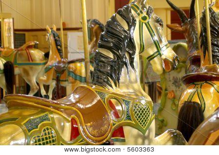 Green Heart Dentzel Carousel Horse