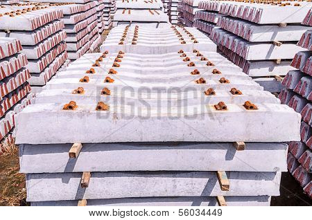Stack Of Concrete Sleeper