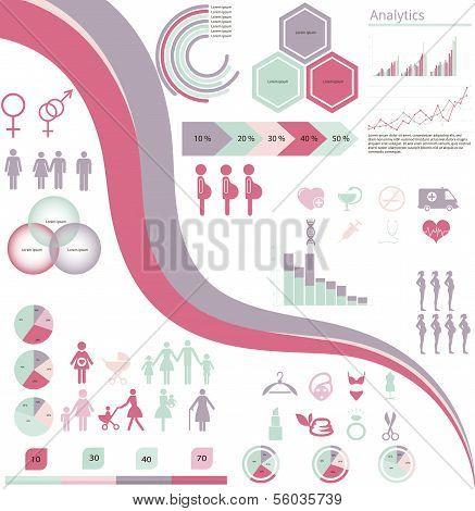 Frau Infografiken