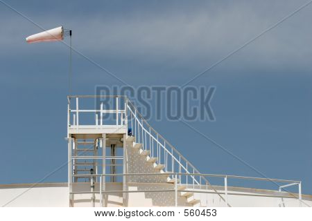 Windsock On Oil Storage Tank
