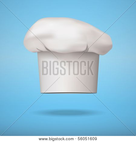 White chef cap toque