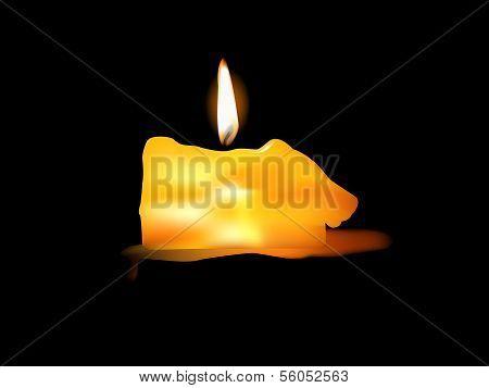 Illustration of Burning Candle .