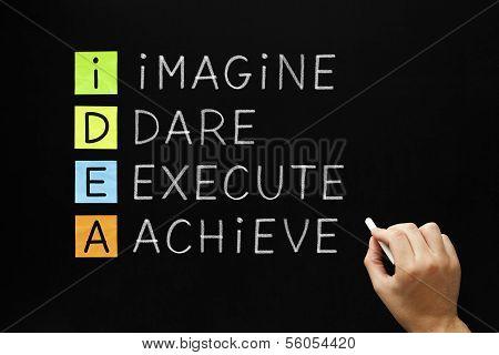 Idea - Imagine Dare Execute Achieve