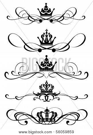 Vector set. Calligraphic design elements.