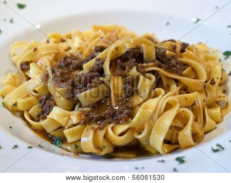 Spaghetti Pasta Dish With Meat Sauce