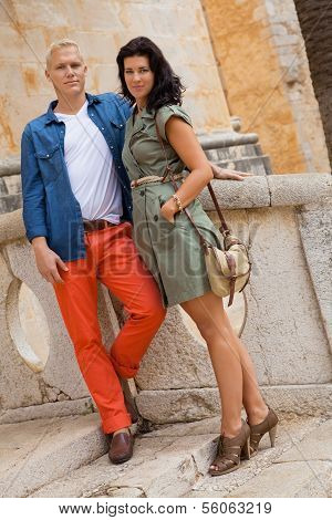 Young Attractive Couple In Summer Fashion