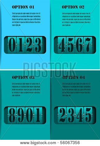 mechanical timetable. Infographic design elements. Vector illustrtion