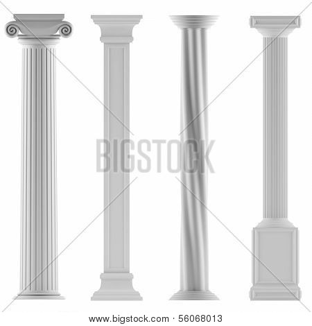 Modern style architectural classic columns